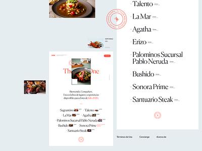 The Posh One Microsite, Exploration 01 store website ui secret club food interface design branding web design art direction