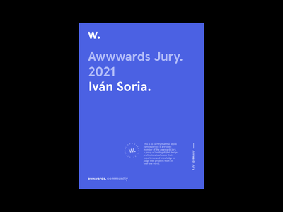 Awwwards Jury 2021 development web design 2021 jury awwwards