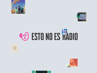 Esto no es radio: Brand Exploration audio radio podcast design logo branding brand identity art direction