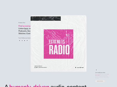 Esto no es radio: Brand System Exploration podcast audio design brand system art direction