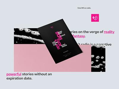 Esto no es radio: Brand System Exploration, Poster poster podcast design branding art direction