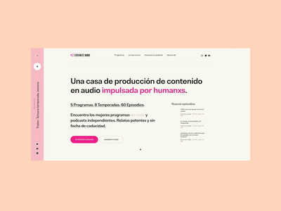 LIVE: Esto no es radio tour art direction ui visual design design podcast radio audio website design website