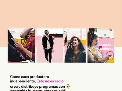 Esto no es radio: Brand illustrations textures art direction branding illustration website web design podcast radio