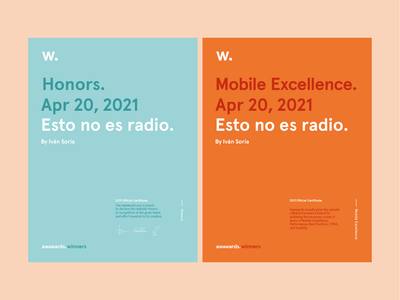 Esto no es radio at Awwwards mobile excellence honors awwwards