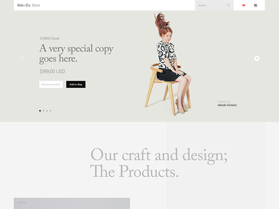Kob + Co Store Shopify theme shopify store web design website ui