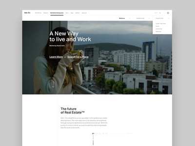 Kob + Co: Real Estate Development real estate white minimalism clean ui design web