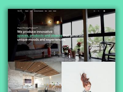 Kob + Co website: Home monterrey furniture architecture webdesign ui website