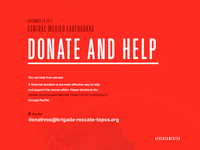 Central Mexico Earthquake - DONATE AND HELP