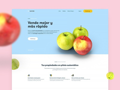 scavan Partner Landing apples data insights smart buy organic real estate web design ui