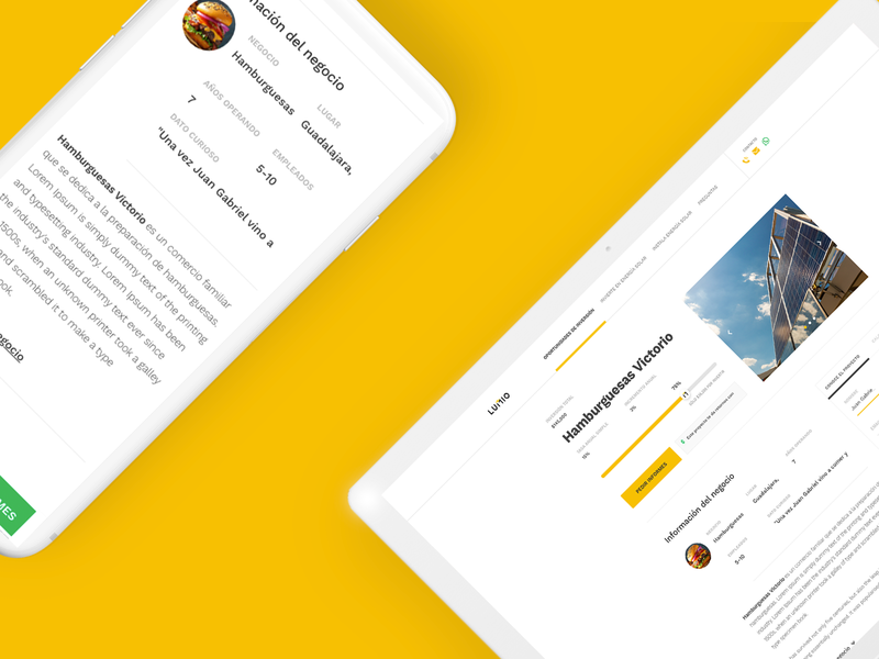 Lumio Project Page adobexd eco-friendly crowdfunding solar powered fintech web design