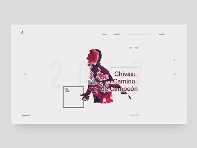 2019 Portfolio - WIP adobexd pixijs displacement slider portfolio animation web design