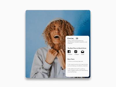 Ennie - User Personas webdesign persona design branding