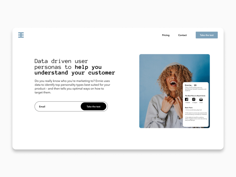 Ennie Rebrand landing page design website design webdesign branding rebrand