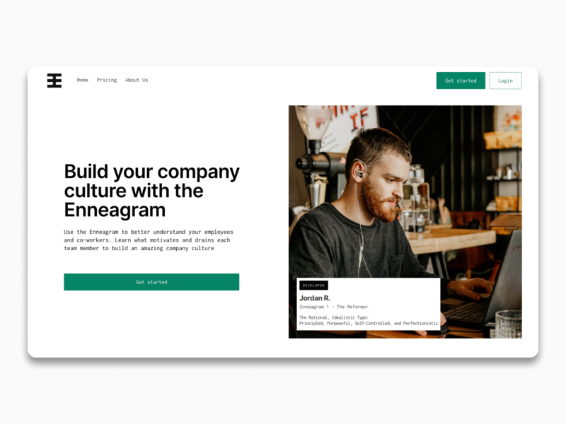Ennie - Build Your Company Culture with the Enneagram personalities personality enneagram ui cms cms development figma web application design web app design web app landing page webdesign