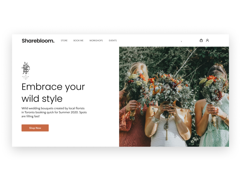 Sharebloom Landing Page Hero Templates cms web landing design landing page webdesign template