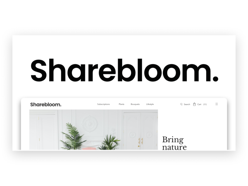 Sharebloom - A CMS for Creatives. landing page design landing design figma cms development landing page webdesign cms