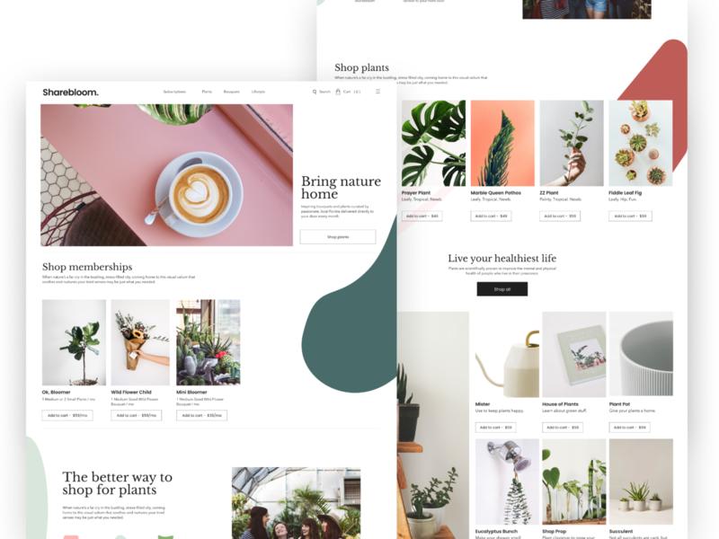 Sharebloom Landing Page branding design ui figma cms cms development webdesign landing page