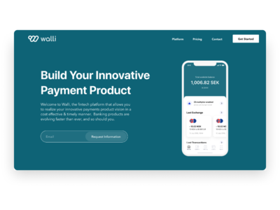 Walli Payments Landing Page