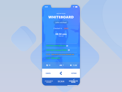 Whiteboard : A mobile chat app