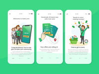 On-boarding screens : mobile app