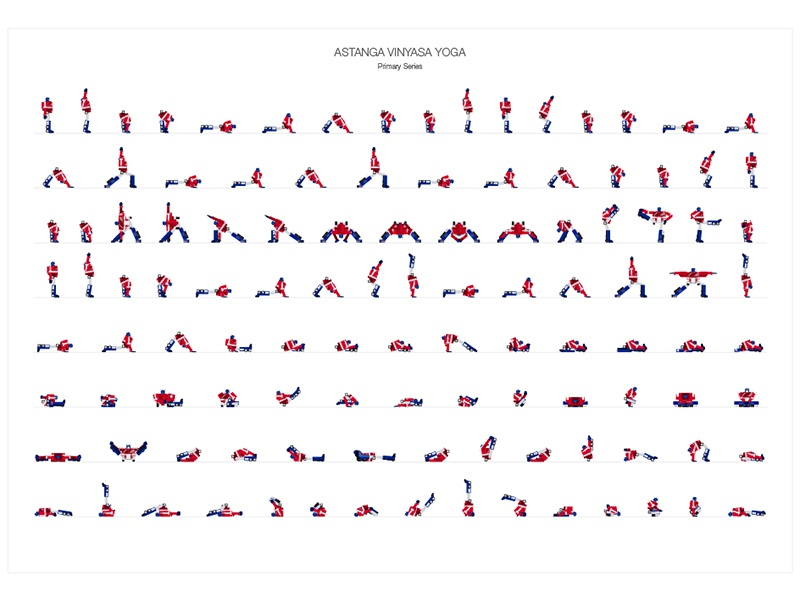Astanga Vinyasa Yoga Primary Series By Idan Shani On Dribbble