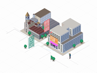 Enviewz Cisco happy-n-excited awesome affinity-designer augmented-reality isometric technical illustration