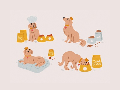 Dogs characters cute blog cover blog illustration adobe illustrator dog illustration food dog vector character design kids illustration character illustrator picture book children book illustration illustration taty vovchek