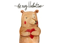 Valentines Day Bear with Heart