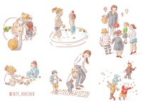 Kindergarden life illustration