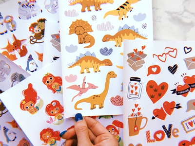 Stickers with my illustrations