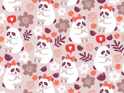 Pandas pattern for valentines day