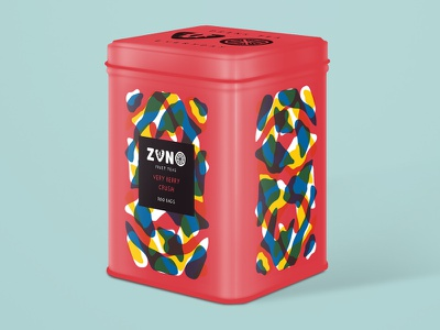 Very Berry Crush Packaging pattern abstract playful illustration cmyk packaging branding tea fruit
