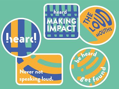 heard PR Sticker Graphics social media advertising marketing sticker pattern branding