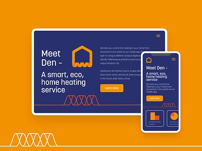 Den Eco-Energy Branding and Web Layouts website energy app icon logo abstract ui vector branding