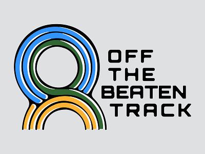 Off the Beaten Track Logo identity label record logo vinyl branding
