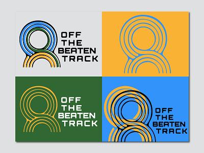 Off the Beaten Track Brand Identity illustration identity label vinyl record logo abstract branding