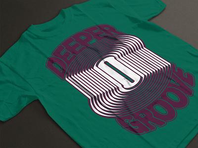 Deeper Groove T-shirt Design - Forest Green vinyl music t-shirt apparel