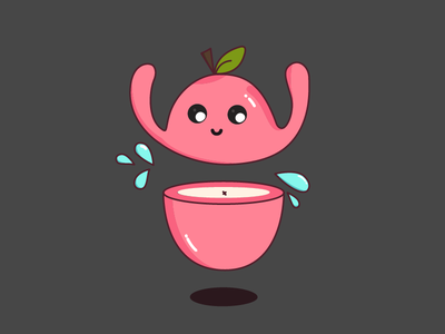 Apple Slice vector illustrator hungry for apples fruit juicy googly eye cute deeski videos deeski apple slice apple