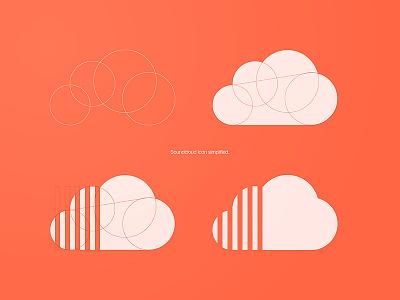 Soundcloud icon simplified soundcloud logo icon illustration vector sound cloud
