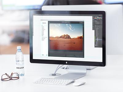 Bokeh web concept images screen monitor bokeh web work in progress photography