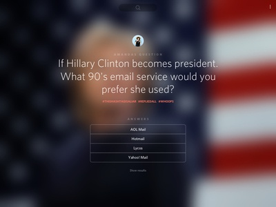 Simple Polling Platform - Sneak Peek #2 america usa election answer question politics clinton hillary vote poll web