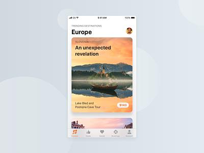iOS 11 Travel App design ui travel app mobile ios11