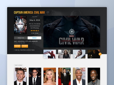 Tbreak Movies cinema tv designer user interface ui simple movie app web