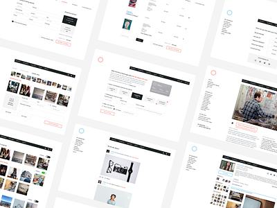 Art Curation Web Application interface user ui design patronage website curation art minimal app web