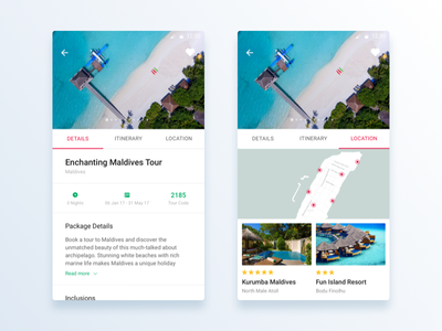 Private Holidays Android App package white ux map flat design tabs mobile android ui travel