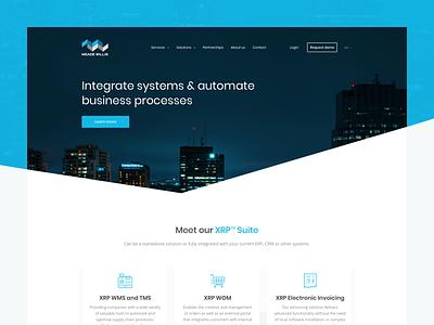Meave Willis - Real project modern blue custom web app web design ui design user interface business