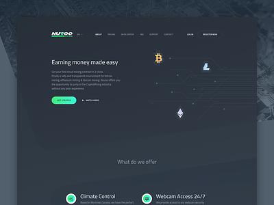 Nuvoo Mining website redesign dark litecoin ethereum bitcoin mining cryptocurrency