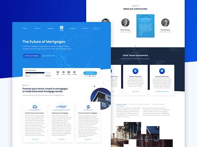 Viva Crypto Web Landing home blue landing page website redesign dark litecoin ethereum bitcoin mining cryptocurrency