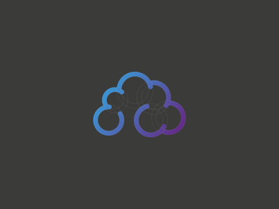 Cloudfield Identity Concept cloud illustrator shape financial software application cloudfield design logo identity