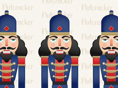 Nutcracker pattern soldier illustration vector illustrator ui 2020 christmas nutcracker